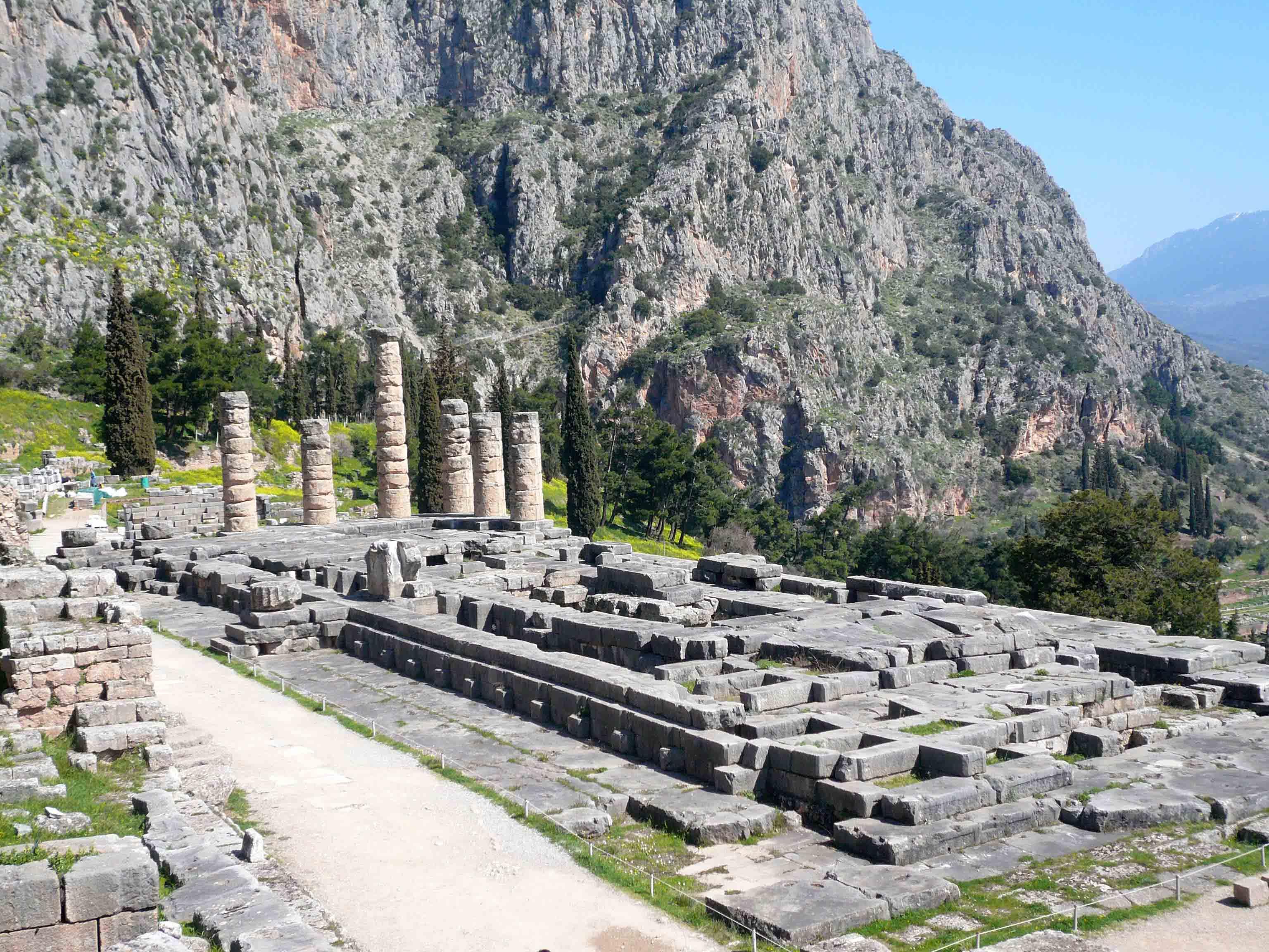 Ο αρχαιολογικός χώρος των Δελφών